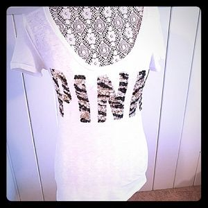 Pink tee with bling